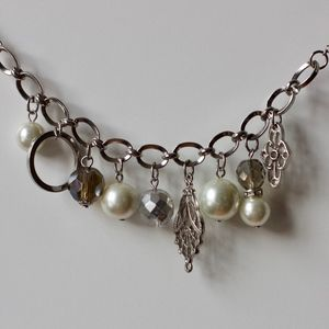 Long Pearl Gem Necklace